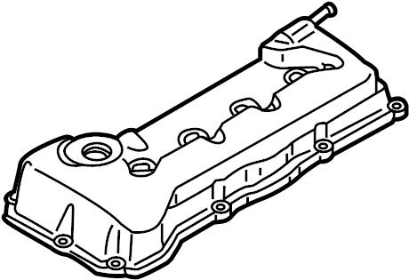 infiniti qx60 engine valve cover head cylinder assembly QR25DE Pistons