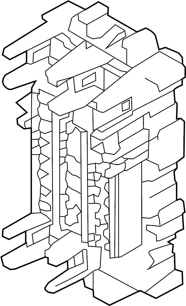 Infiniti Q50 Block Fuse  Harness  Room  Body