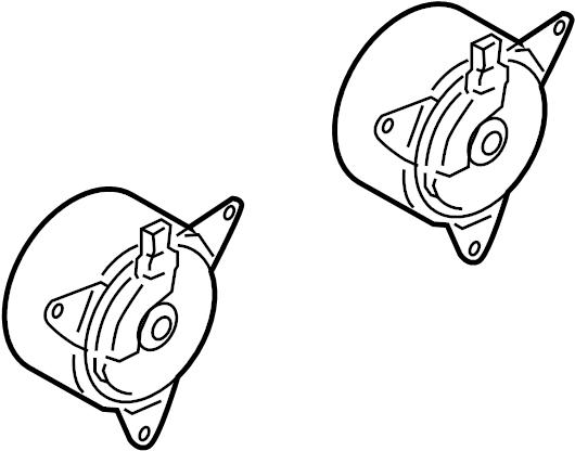 Infiniti I35 Engine Cooling Fan Motor  Radiator  Fitting  Shroud