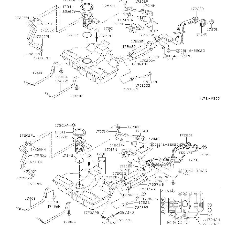 Infiniti I30 Clamp Hose  Fuel  Fed
