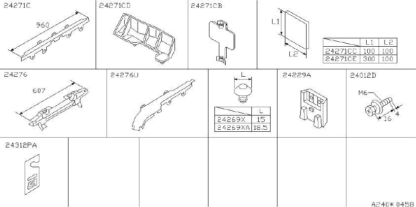 INFINITI I30 Clip Wiring Harness. ROOM, ENGINE, FED ...