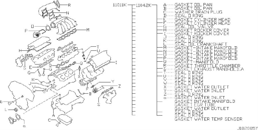 Infiniti I35 Engine Cylinder Head Gasket Set