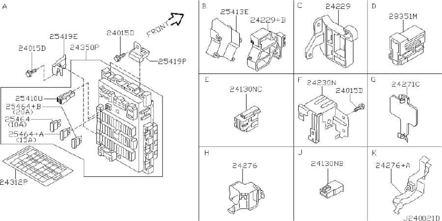 Infiniti I35 Fuse Box Cover  Room  Fitting  Engine