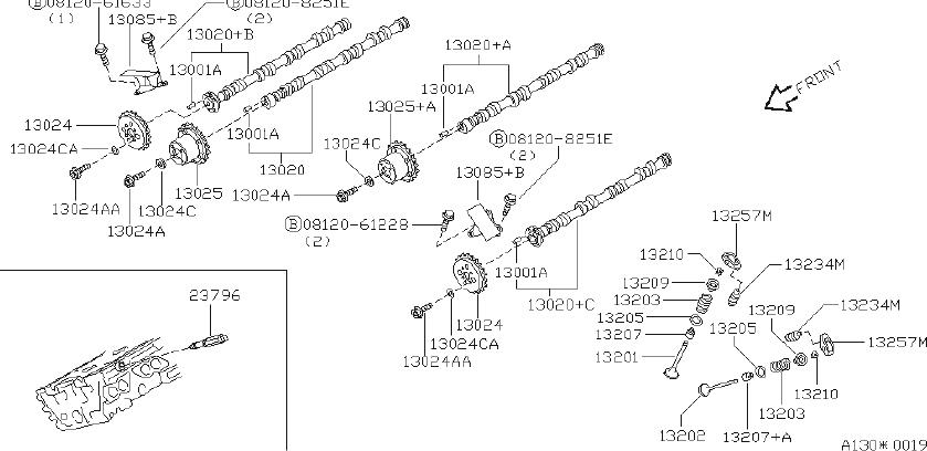Infiniti Q45 Engine Timing Camshaft Sprocket  Chane  Valve  Mechanism