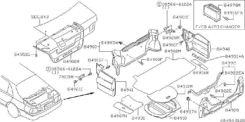 Infiniti Q45 Door Sill Plate  Rear