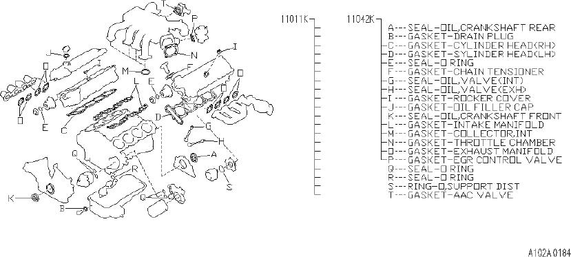 Infiniti Q45 Engine Gasket Set  Usa  Kit