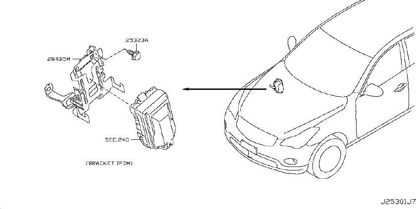 Infiniti Ex35 Air Bag Impact Sensor  Right   Body  Dash  Inst