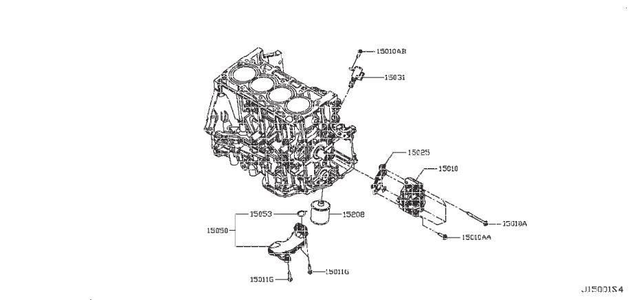 INFINITI JX35 Engine Oil Filter - 15208-65F1B | INFINITI ...