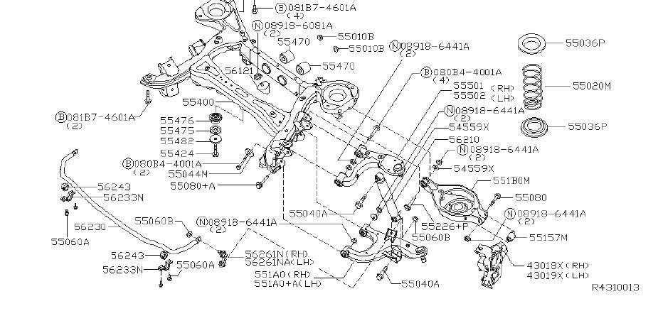 Infiniti Qx56 Suspension Subframe Crossmember  Rear