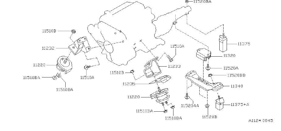 Infiniti J30 Radiator Support Tie Bar Bolt