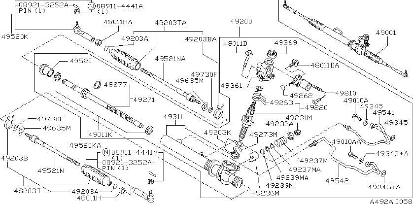INFINITI J30 Steering Tie Rod End - D8520-0P725 | INFINITI ...