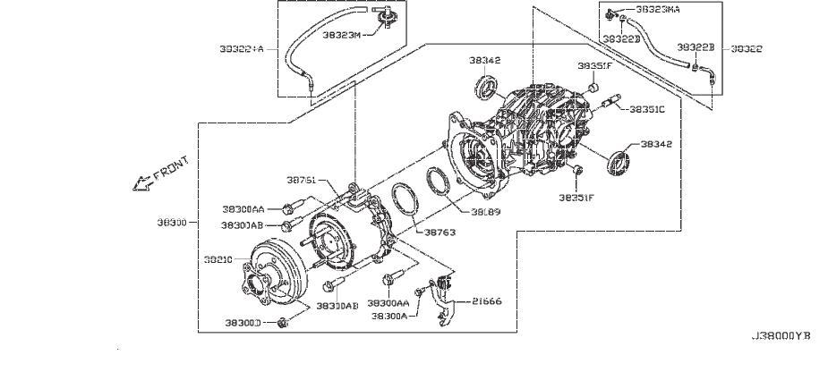 Infiniti Jx35 Nut  Awd  Drive  Wheel