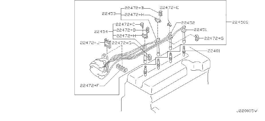 infiniti g20 spark plug wire set  system  sumitomo