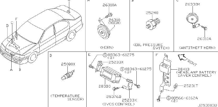 INFINITI G20 Engine Coolant Temperature Sender. OTHERS ...