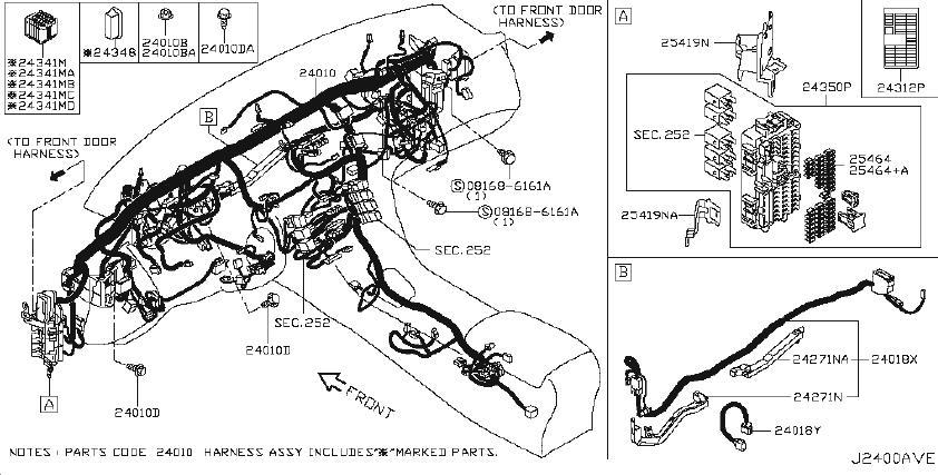 Infiniti Q50 Harness Body  Other