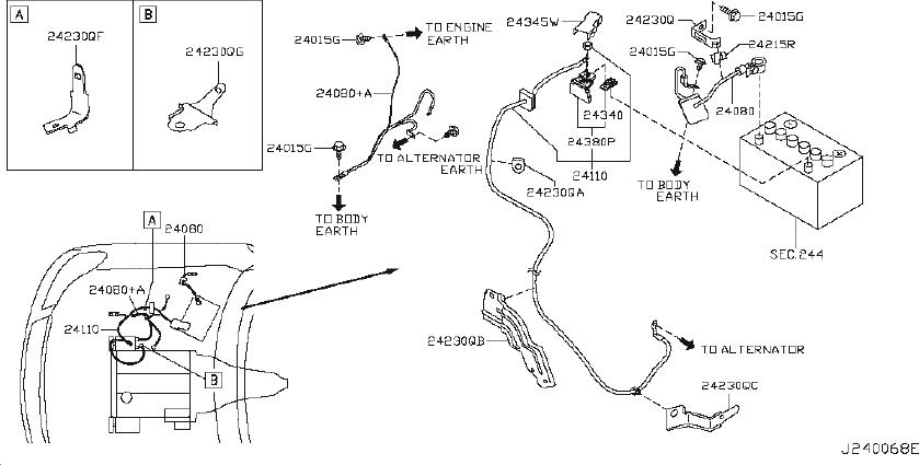 Infiniti M45 Junction Block Bracket  Harn  Body  Battery